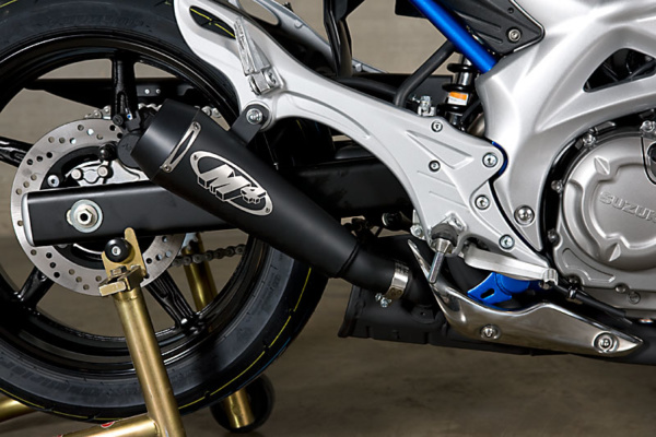 2009-15 Gladius GP Slip On with black ceramic muffler