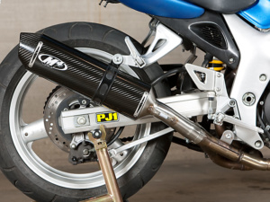 1999-02 SV650 Slip On system with carbon muffler