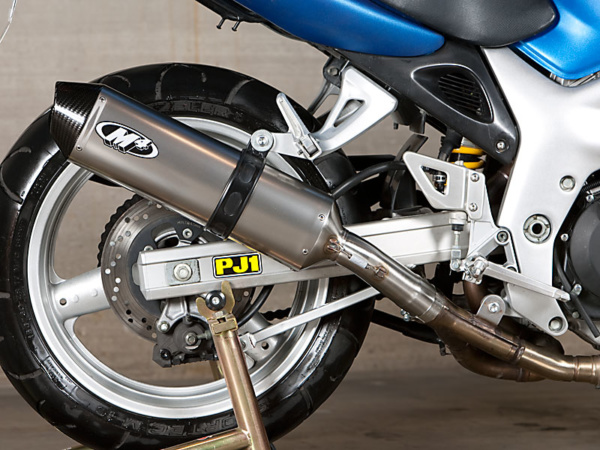 1999-02 SV650 Slip On system with titanium muffler