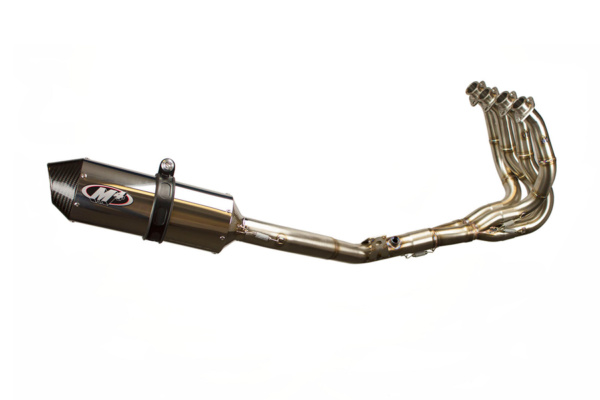 2008 GSXR600 Race Full System - Polished Aluminum Muffler