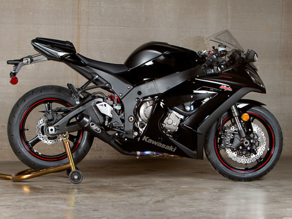 2011 ZX10R GP System Slip On with Black Canister