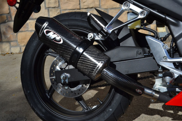 2015 CBR300R Slip On with Carbon Canister