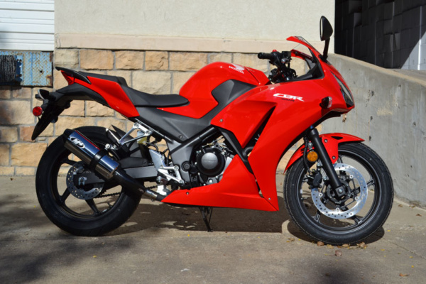 2015 CBR300R Slip On with Polished Canister