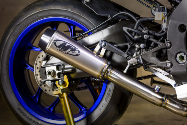 2015 R1 Titanium Slip On With Catalytic Converter Eliminator