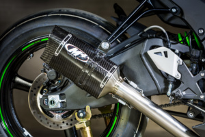 2016 ZX10R Carbon Slip On with Catalytic Converter Eliminator