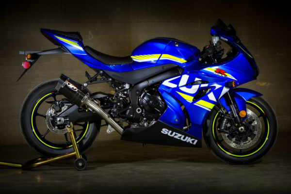 2017 GSXR 1000 Full System with Carbon Fiber Muffler