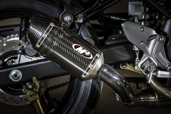 2017 SV-650 Slip On System with Carbon Fiber muffler