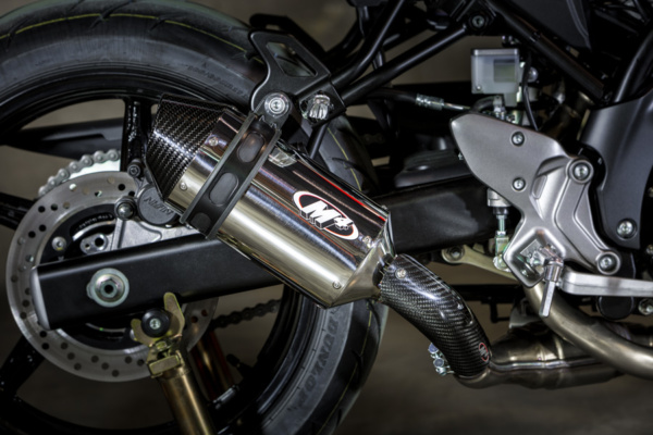 2017 SV-650 Slip On System with Polished muffler