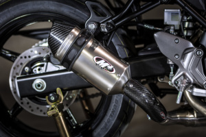 2017 SV-650 Slip On System with Titanium muffler