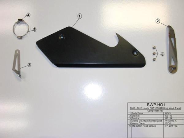 BWP-HO1 Component Key