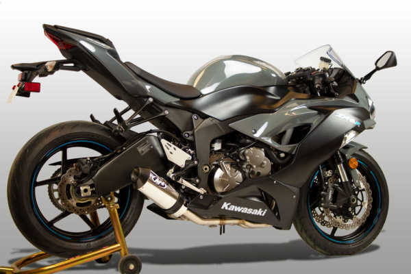 2019 ZX6R Full System Street Slayer Polished