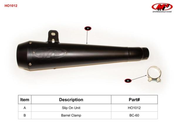 HO1012 Component Key