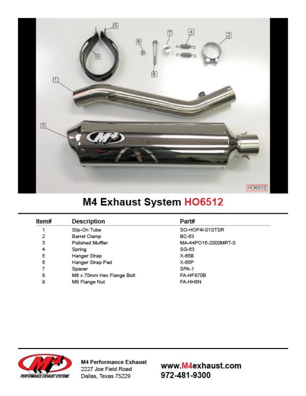 HO6512 Component Key