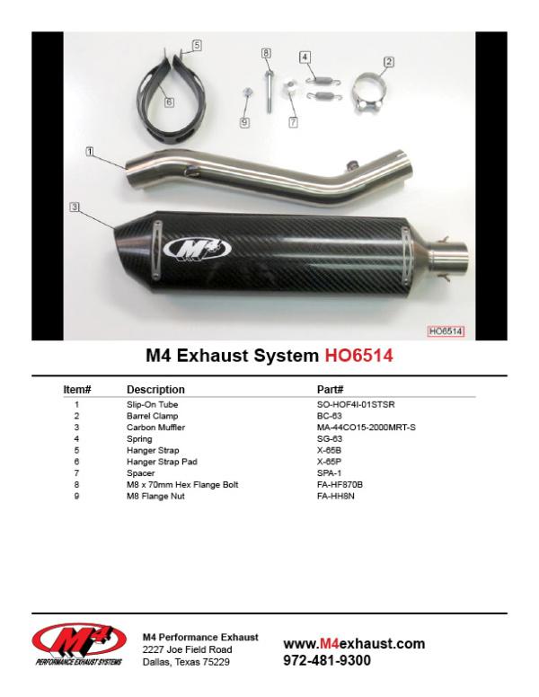 HO6514 Component Key