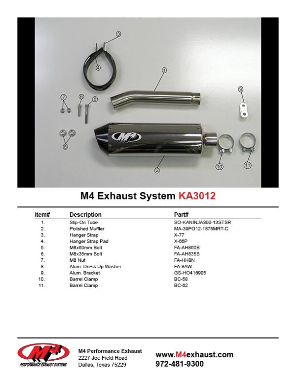 KA3012 Component Key
