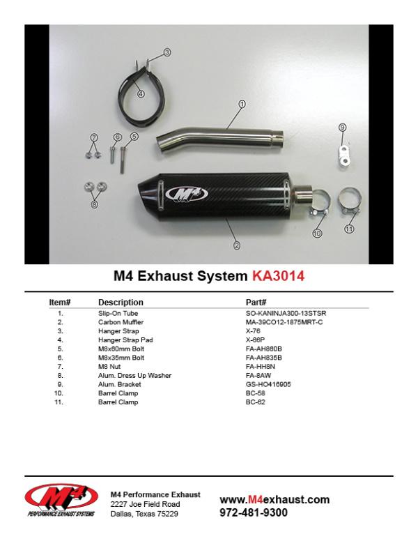KA3014 Component Key