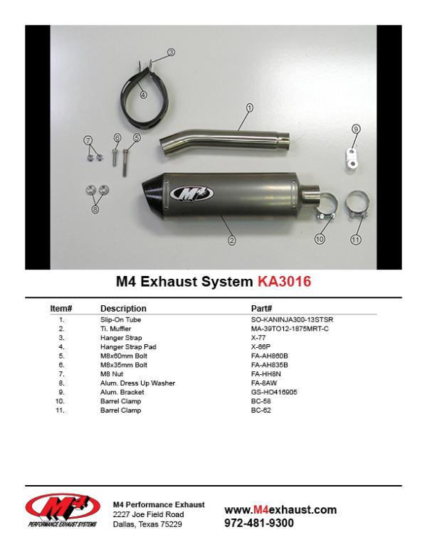 KA3016 Component Key