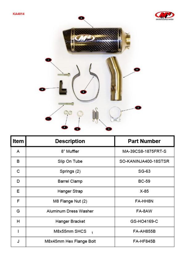 KA4014 Component Key