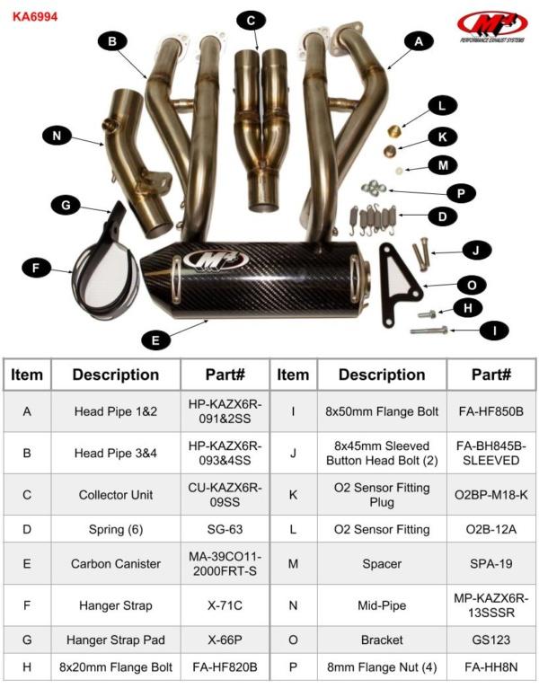 KA6994 Component Key