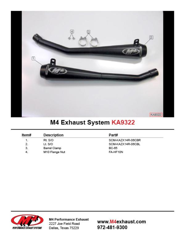KA9322 Component Key