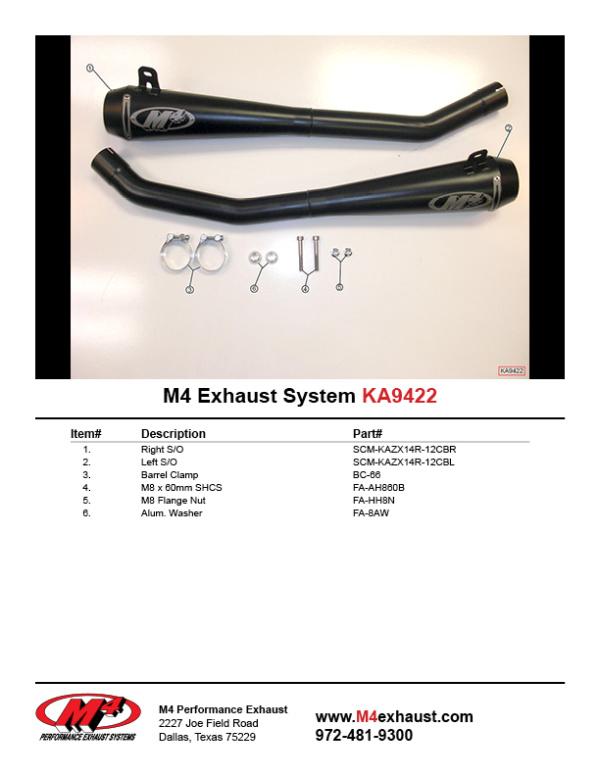 KA9422 Component Key