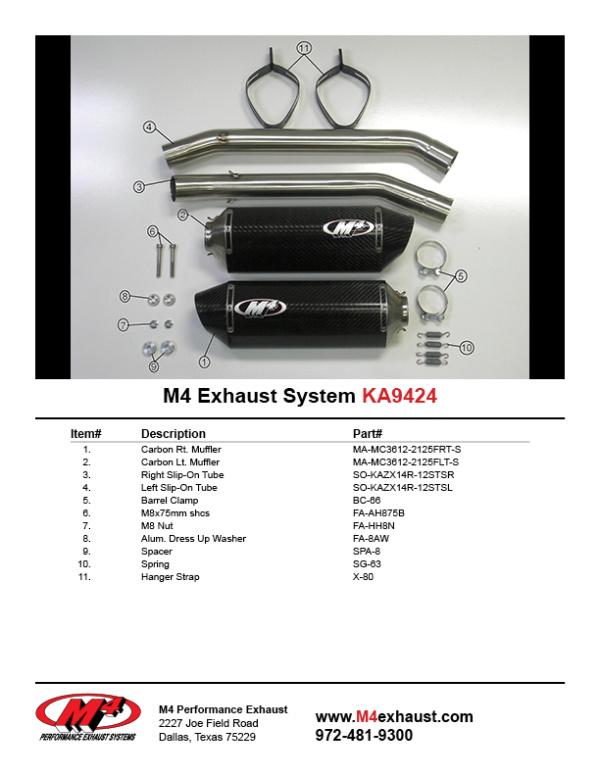 KA9424 Component Key