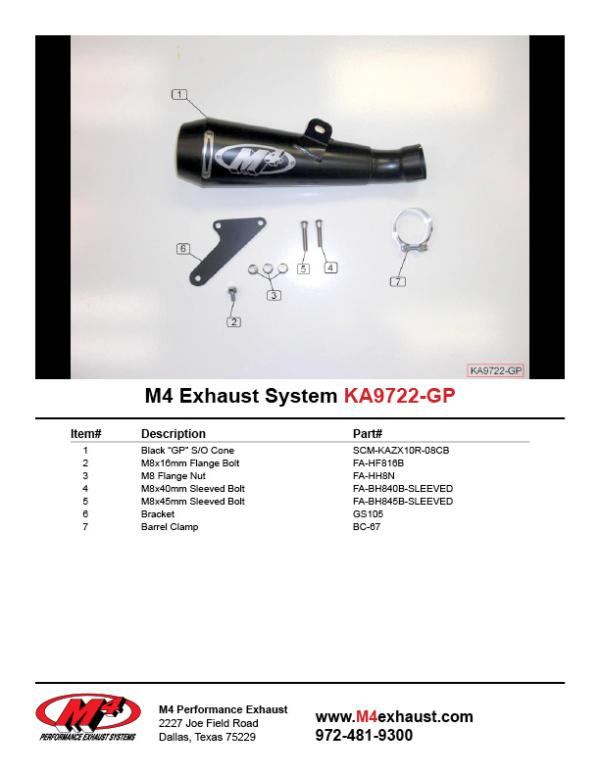 KA9722-GP Component Key