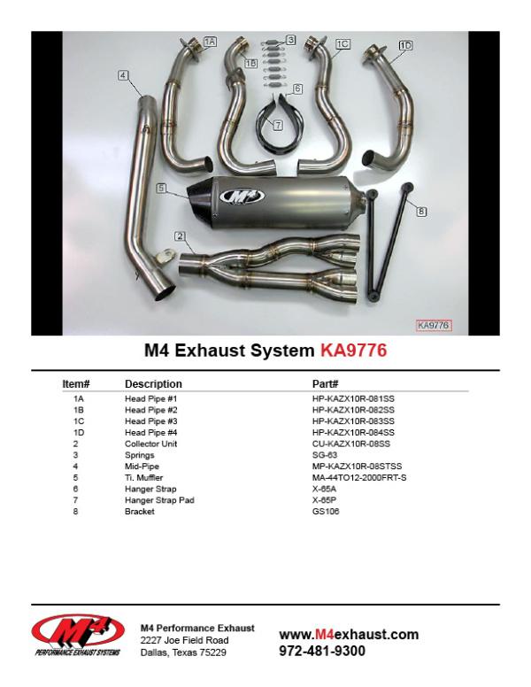 KA9776 Component Key