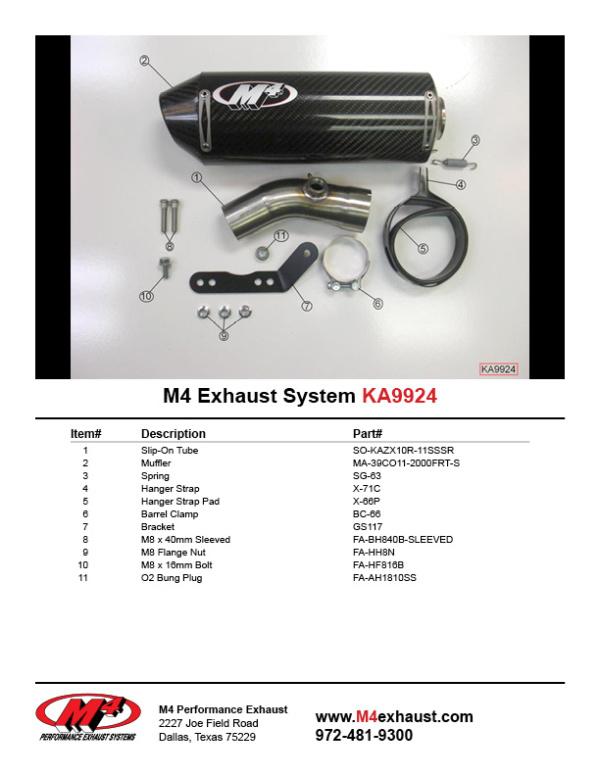 KA9924 Component Key