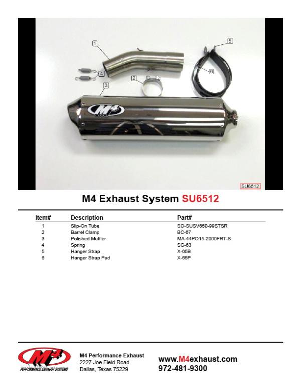 SU6512 Component Key