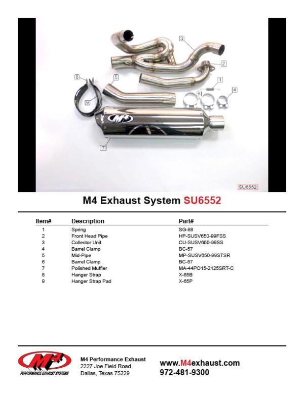 SU6552 Component Key