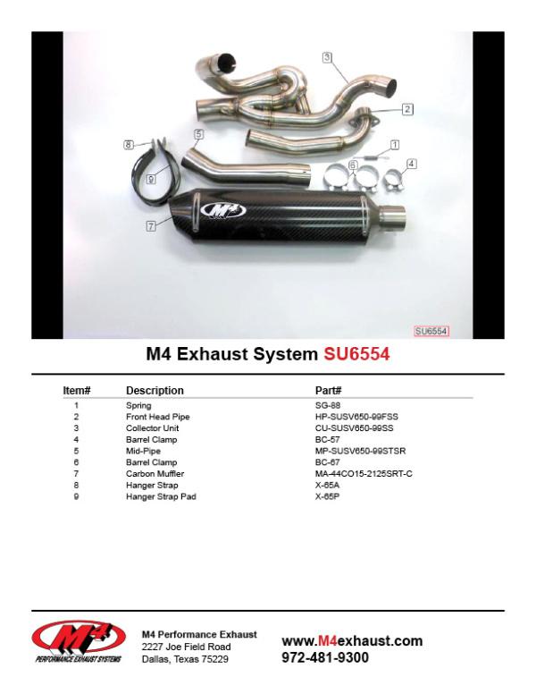 SU6554 Component Key