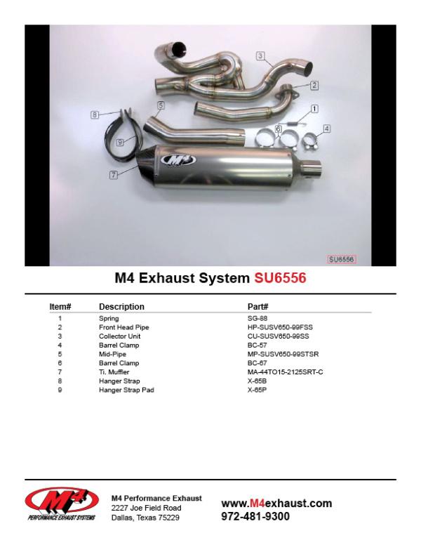 SU6556 Component Key