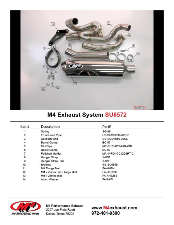 SU6572 Component Key