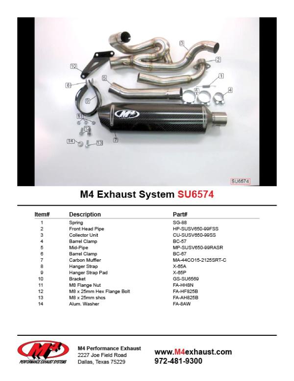 SU6574 Component Key