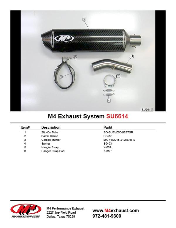 SU6614 Component Key