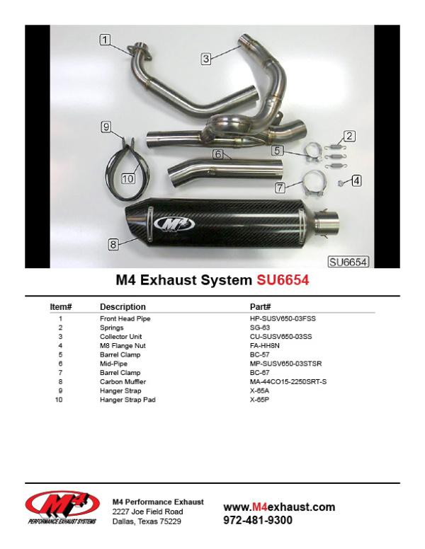 SU6654 Component Key