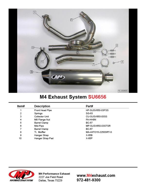 SU6656 Component Key