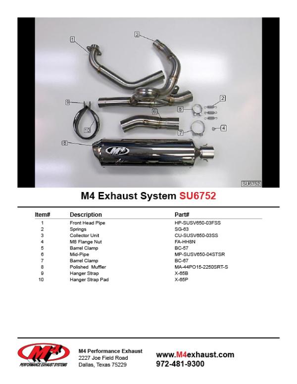 SU6752 Component Key
