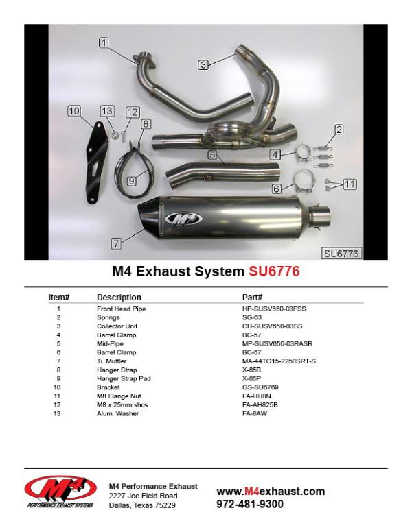 SU6776 Component Key