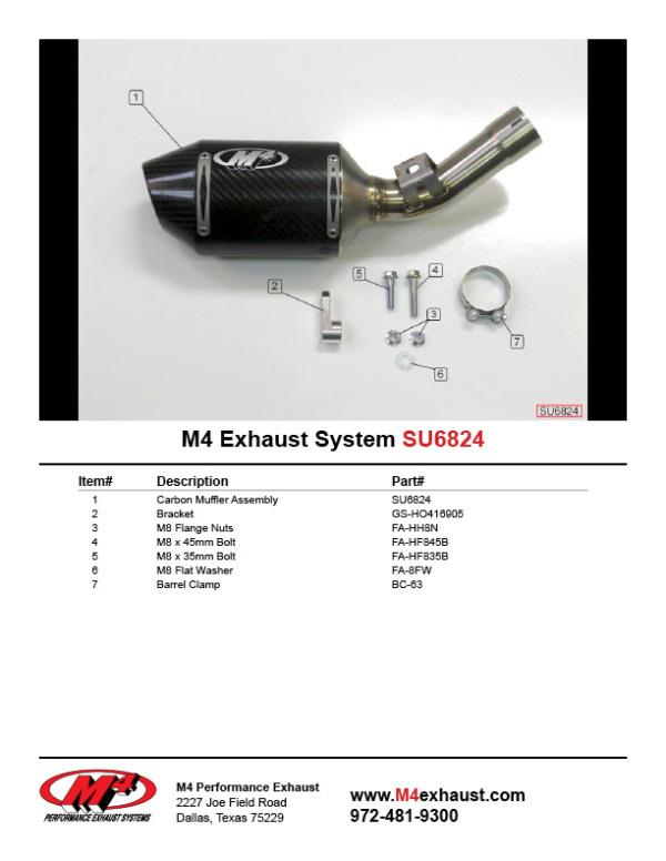 SU6824 Component Key