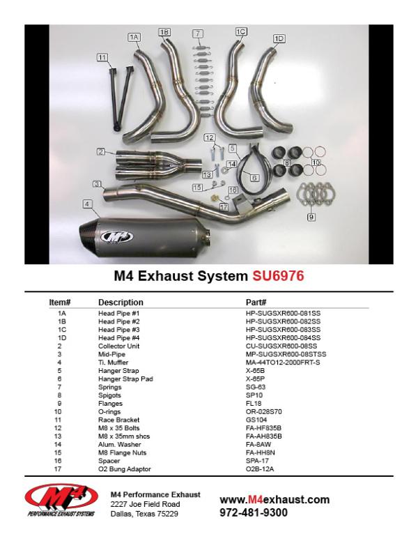SU6976 Component Key