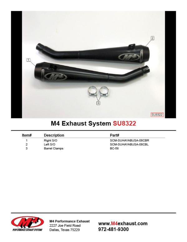 SU8322 Component Key