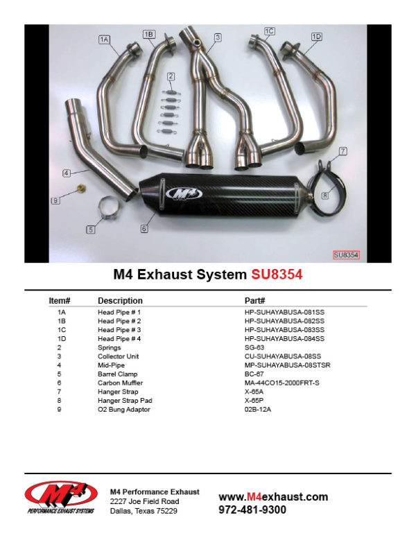 SU8354 Component Key
