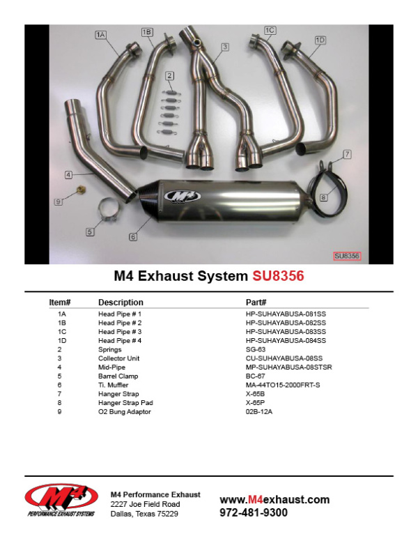SU8356 Component Key