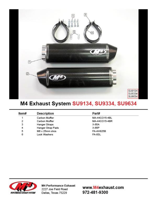 SU9134-9334-9634 Component Key