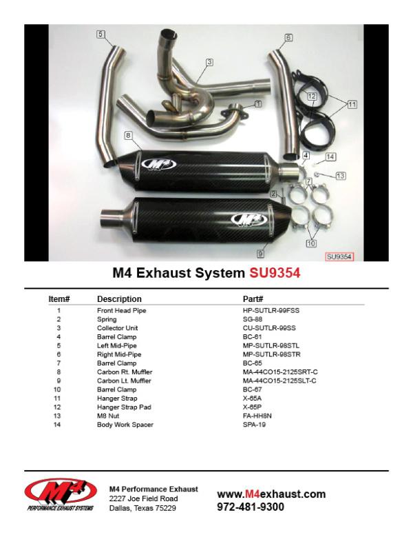 SU9354 Component Key