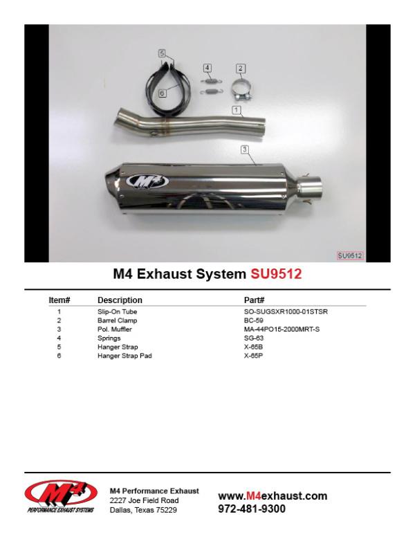 SU9512 Component Key