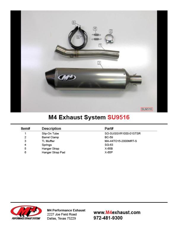 SU9516 Component Key