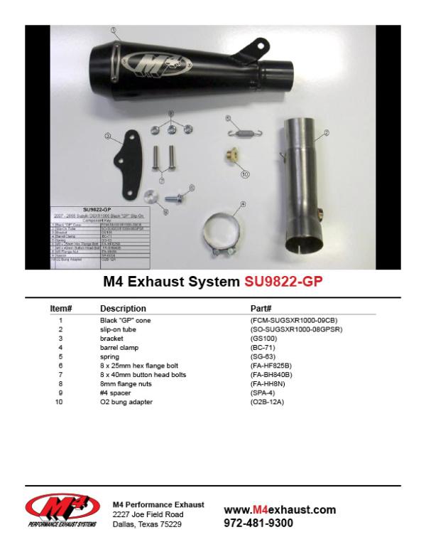 SU9822-GP Component Key